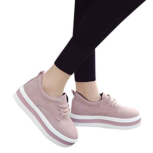 Outdoor Running Ihengh Women Francesina Donna Lace Rete Moda Ragazza Sneakersscarpe Estate Sport Rosa Casual 2019 up Breathable Respirante Scarpa Vintage Ginnastica Pantofola Pu Shoes q86wFqr