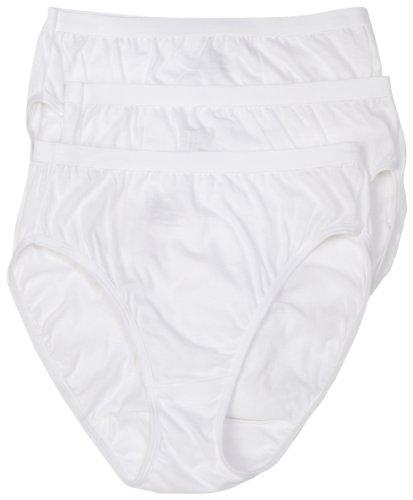 Hanes Women's Classic Cotton Hi-Cut Panties (Pack of 3)