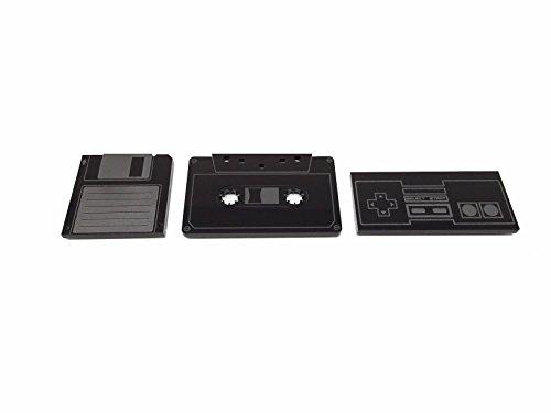 Azafrán- Imanes Vintage con Forma de Cassette