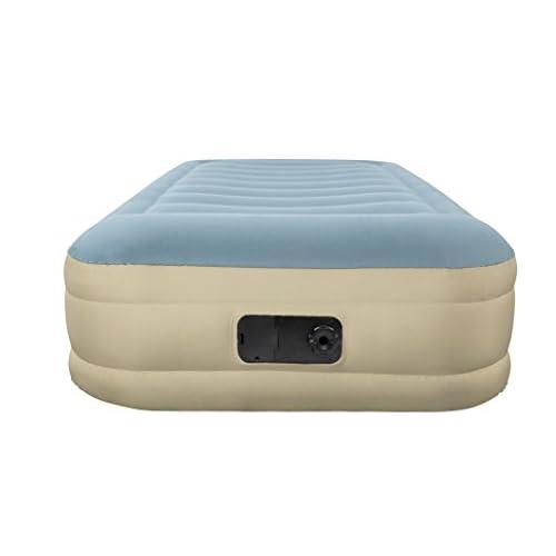 Bestway 69005Essence ForTech Fashion Twin Air Lit, Polyester, PVC bleu ciel/sable, 191x 97cm