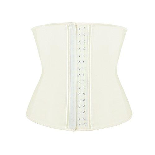 Feelin Girl - Corsé de moldeamiento de cintura para mujer, látex blanco