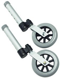 Lumex 5'' Swivel Universal Walker Replacement Wheels NEW
