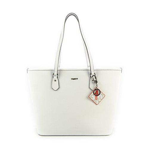 Shopping bag grande in pelle con pochette estraibile, Y Not