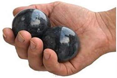Ashy-wlj フィットネスボール、ブラック・ブルージェイドフィットネスボール、中高年フィットネスボール、マッサージ運動フィンガーグリップボール52ミリメートル (サイズ : 52cm)