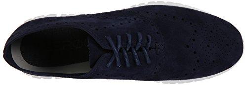 Cole Haan Zerogrand del extremo del ala Oxford Azul (Blazer Blue Suede)