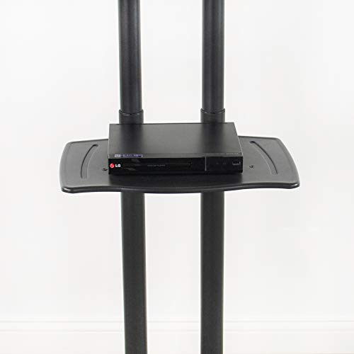 VIVO Mobile Height Adjustable TV Cart with Shelf for LCD LED Flat Screens 32'' to 65'' | TV Stand Mount with Wheels (STAND-TV05K) by VIVO (Image #3)