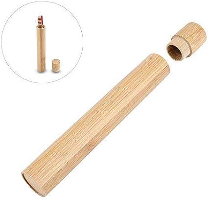 Portacepillos de dientes Estuche de bambú premium para cepillo de dientes Estuche para cepillo de dientes ecológico para su cepillo de dientes Perfecto para viajes: Amazon.es: Hogar