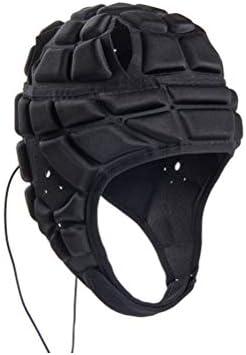 ファッションと耐久性のあるサッカーゴールキーパーホッケーラグビーローラースケートクラッシュヘルメットキッズユースアダルト(ブラック)