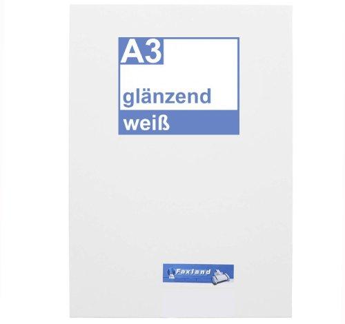 Klebefolie 10 x DIN A3 weiß glänzend - Druckerfolie, klebend, zum bedrucken, Wetterfest, Wasserfest für Laserdrucker, Outdoor