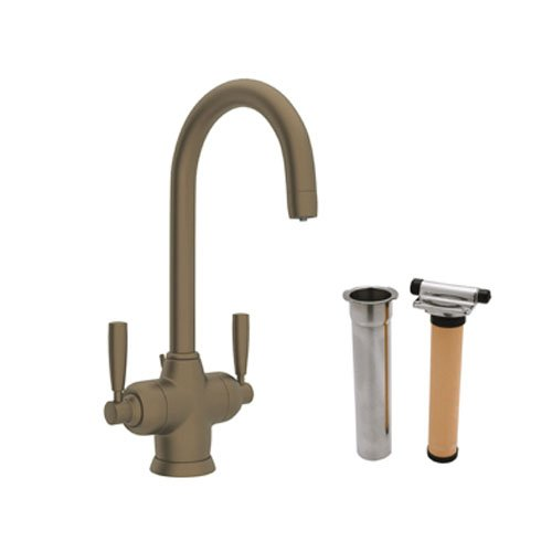 (Rohl U.KIT1335LS-EB-2 A7200Lmpn Perrin and Rowe Single Hole Bathroom Faucet with Triflow Filter, English Bronze)