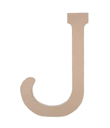 23.5 Inch Paper Mache Letter - Darice 2860-J Paper Mache, 23.5-Inch, Letter J