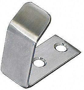 RM829.32D 304 Stanless Steel SClothing Hook Coat Hook,3//4 In Silver