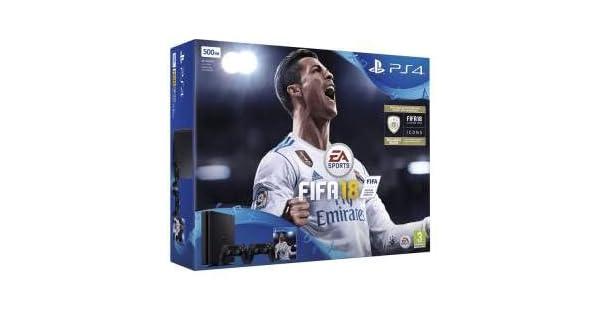 Sony PlayStation 4 500GB Console - Black - FIFA 18 Bundle with FIFA 18 Ultimate Team Icons and Rare Player Pack (Portuguese edition box rare - multilanguage console): Amazon.es: Videojuegos