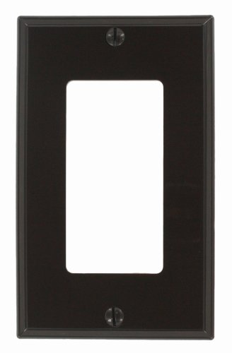 Leviton 80401-N 1-Gang Decora/GFCI Device Wallplate, Standard Size, Thermoplastic Nylon, Device Mount, Brown (Wall Brown Plate)