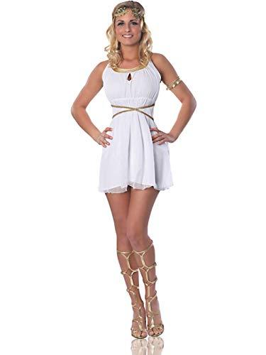 Delicious Brand Halloween Costumes (Delicious Grecian Goddess Costume, White,)