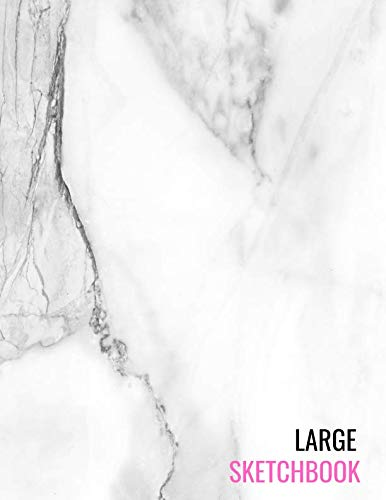 - Large Sketchbook: White Marble Pencil Sketch Book Sketching, Drawing, Creative Doodling to Draw and Journal