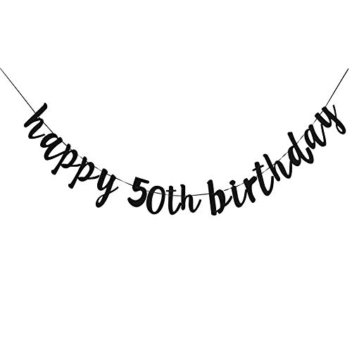 (Happy 50th Birthday, 50th Birthday Party Hang Bunting Sign Decorations Photo Props, Party Favors, Supplies, Gifts, Themes and)
