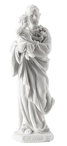 Saint Joseph Holding Baby Jesus Statue Sculpture Bronze