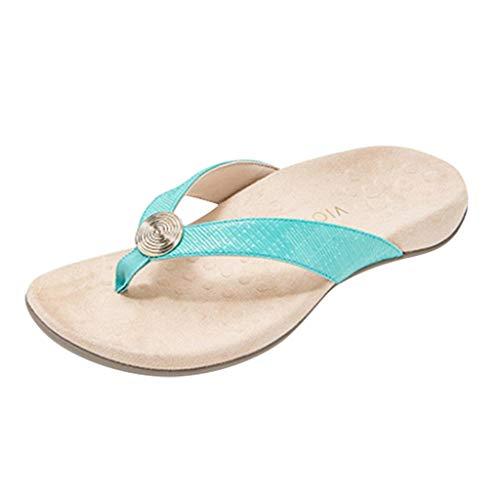 Inawayls Damen Sandalen Sommer Outdoor Flip Flops Damen Badeschuhe Zehentrenner Strandschuhe