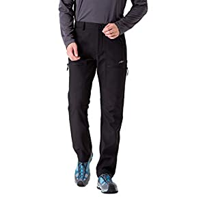 TRAILSIDE SUPPLY CO. Men's Fleece Lined Insulated Pants Softshell Pants,Water and Wind-Resistant