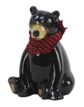 Heart of America Black Bear Money Bank -