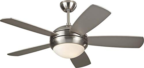 Monte Carlo 5DI44BSD Protruding Mount, 5 Silver Blades Ceiling fan with 58 watts light, See Image