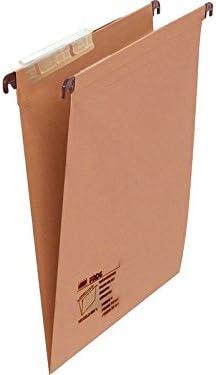 FADE 100333060 - Caja de 25 carpetas colgantes, kraft, folio, Unidades contenidas: 1: Amazon.es: Oficina y papelería