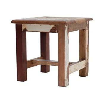 Amazon Com Reclaimed Wooden Step Stool Wooden Stool