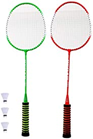 BESPORTBLE 2 Pcs Children Sports Badminton Set Badminton Racket and Shuttlecocks Outdoor Sports Playing Toy Se