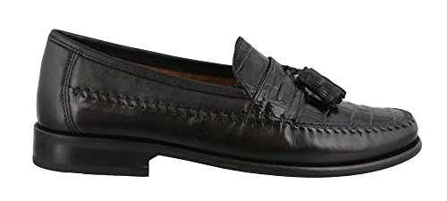 Florsheim Men's Pisa Tassel Loafer,Black,11 1/2 EEE
