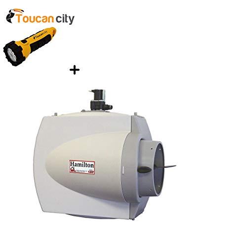 Toucan City LED Flashlight and Hamilton Whole House Furnace Mount Flow Through Humidifier 12HF ()