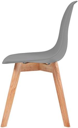 Chaises de salle à manger 2 pcs Plastique Gris