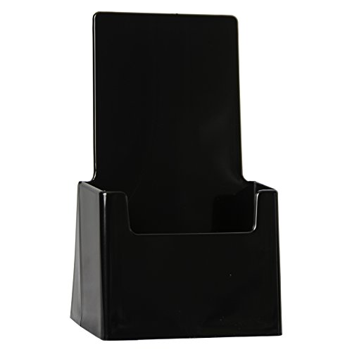 Clear-Ad - LHF-S100 - Acrylic Black Trifold Brochure Holder - Pamphlet Display Stand (Pack of 10) (Black Tri Fold Card)