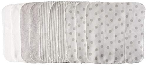 - Just Born 10-Piece Terry Washcloth, Grey, White, One Size