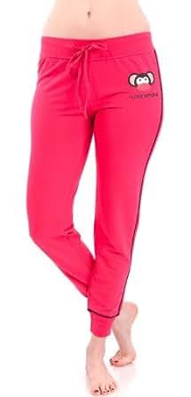 Hot Pink Ladies Himong Monkey Drawstring Sweatpants