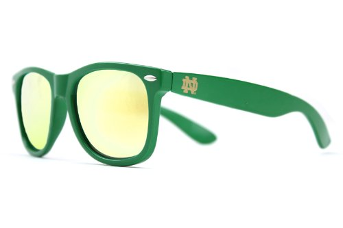NCAA Notre Dame Fighting Irish  ND-7 Green Frame, Gold Lens Sunglasses, Green, One - Sunglasses Dame Notre