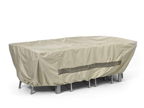 Covermates - Rectangular Dining Table/Chair Set Cover - 138W x 68D x 30H - Elite Collection - 3 YR Warranty - Year Around Protection - Khaki