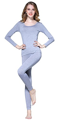 Vinconie Women Long Thermal Underwear Winter Base Layering Set Long Sleeve (Womens Lightweight Long Underwear)