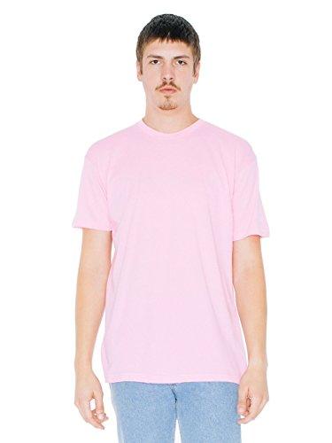 American Apparel Poly-Cotton Short Sleeve Crew Neck, Pink, Medium by American Apparel
