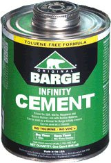 (BARGE INFINITY CEMENT Rubber Leather Glue Shoe Repair 1 Quart (946 ml))