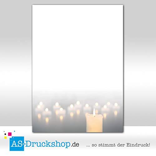 100 fogli//DIN A5 carta offset da 90 g Paperandpicture.de Candeliere Carta design Trauer