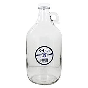 New Wave Enviro Products Glass Bottle, Clear, 64-Ounce