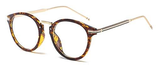 Lentes Ojo Hykis Ovalado con Sol de G15 Metal Gafas Transparentes Leopard de Gafas Vintage Transparentes Black Mujer y Mujer Gafas Unisex de Sand de Retro para Marco para Hombre qrrEH6