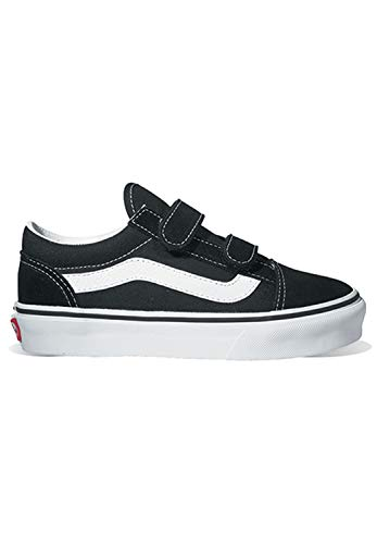 Vans Kids Pop Old Skool V Sneakers - Black/Tru - UK 1/US 1.5/EU 32/19.5 cm]()