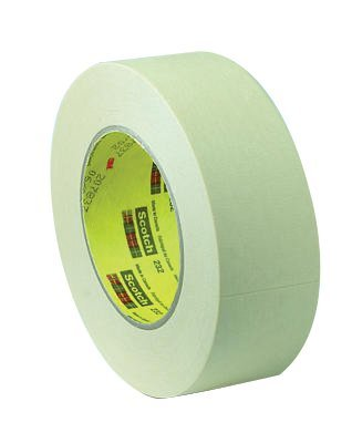 3M Scotch 232 Crepe Paper High Performance Masking Tape, 250 degree F Performance Temperature, 27 lbs/in Tensile Strength, 55m Length x 48mm Width, Tan ()