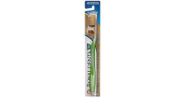Royal Denta Medio, Nano de Oro Cepillo de dientes (los colores pueden variar): Amazon.es: Salud y cuidado personal