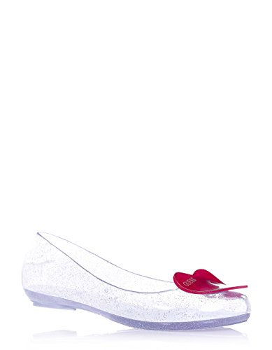 comfort ballet and completely Women flat Girls Italy GUESS made in made Child synonym style PVC of of Silver Girl xfSw5O7