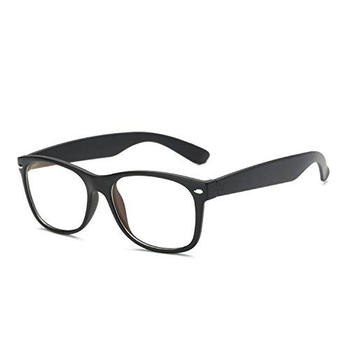 LOMEDO Vintage Retro Classic Horn Rimmed Clear Lens Glasses Matt - Plano Glasses