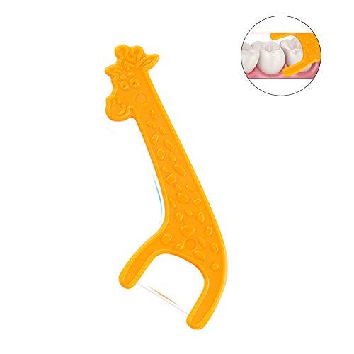 24pcs/Box Children's Flossers Fun Cartoon Floss Chooses Removes Food &Amp; Dental Plaque.