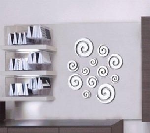 Wanddeko Spiegel wandtattoo spiegel set retro kreise wanddeko aus deutschland